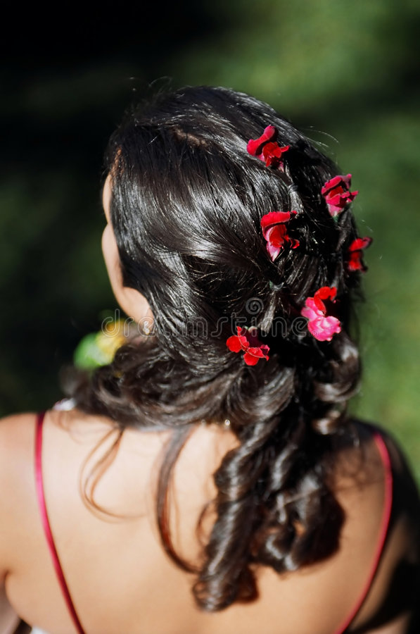 Bride's hair royalty free stock photos