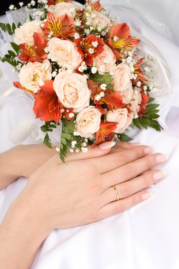 Download Bride's hands stock image. Image of white, bride, elegance - 4738935