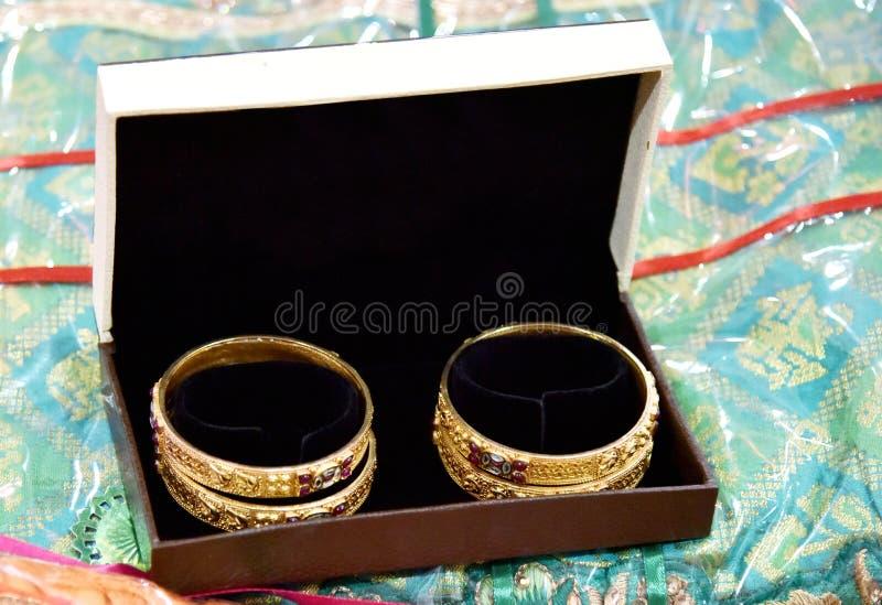 Bride's Jewelery in Indian Wedding royaltyfri foto