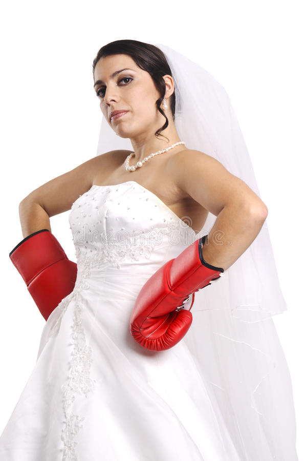 Bride's power stock photography