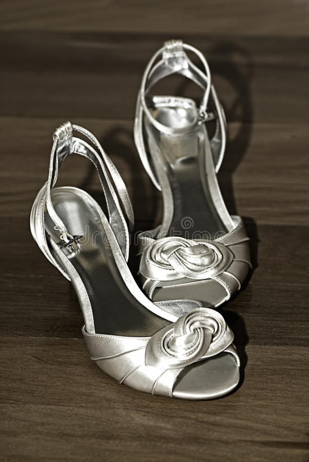 Download Bride's Shoes stock photo. Image of bridal, decoration - 12435978