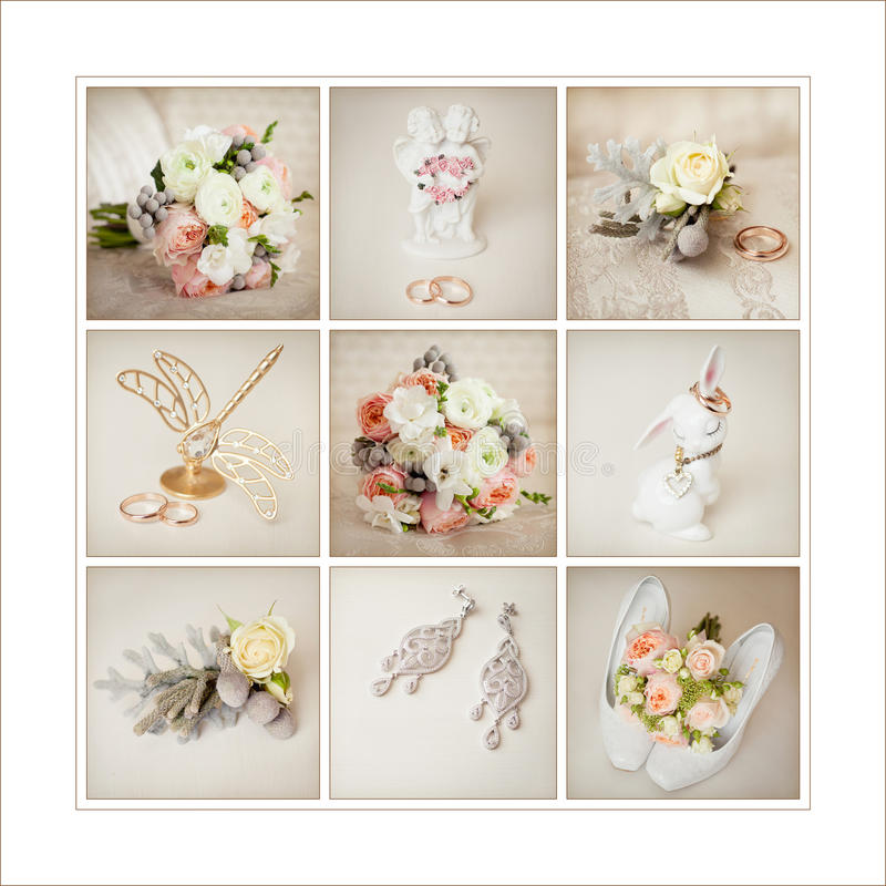 Bride`s wedding accessories royalty free stock photo