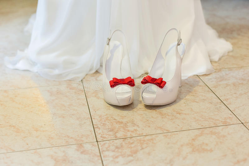 Bride shoes stock images