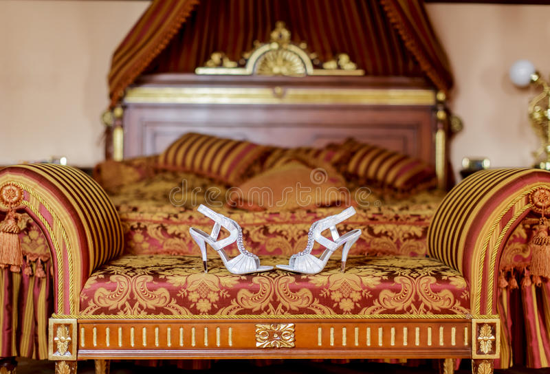 Bride shoes stock image