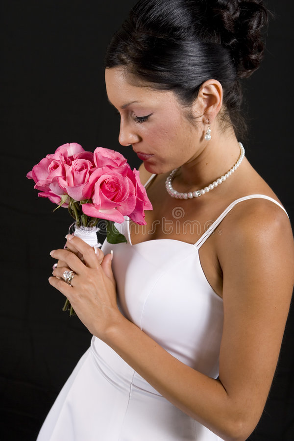 Download Bride Smelling Flower Bouquet Stock Photo - Image: 2908304