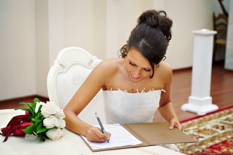 Bride On Solemn Registration Of Marriage Stock Images