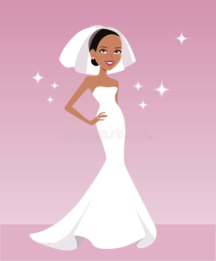 Download Hispanic Bride Illustration Stock Illustration - Image: 22368865