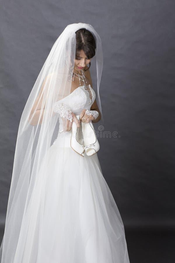 Download Bride in studio stock image. Image of beauty, attractive - 23009995