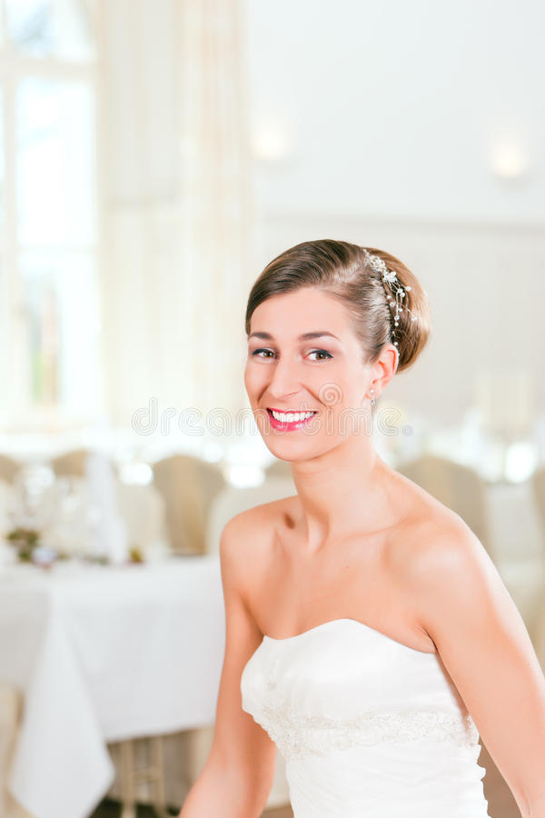 Bride With Swept-back Hair Stock Images