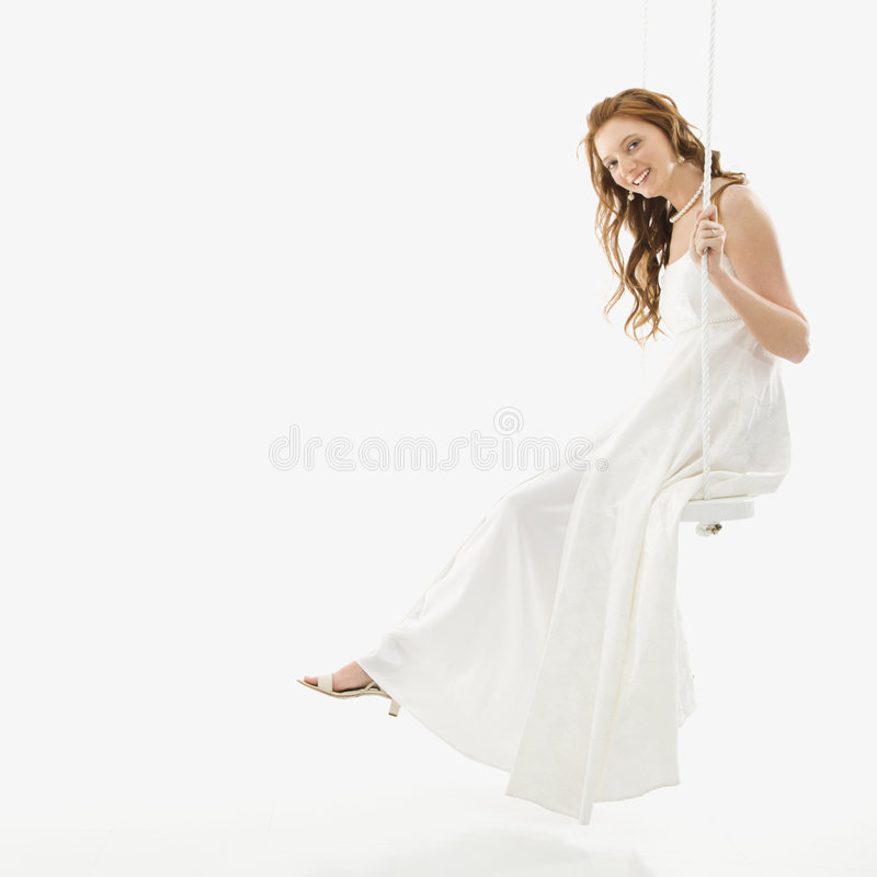 Download Bride On Swing Set. Stock Photos - Image: 2678793