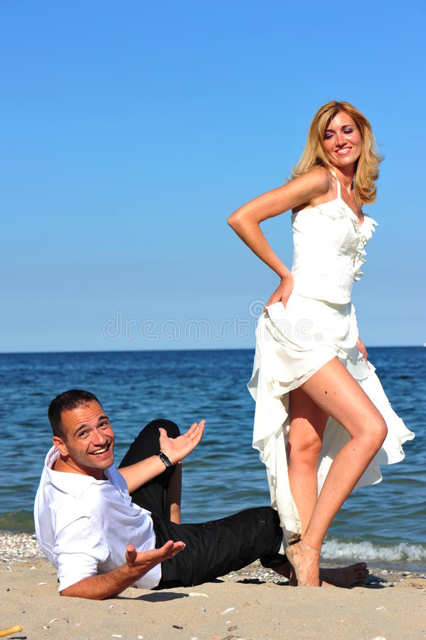 Free Bride Tempting Her Man With Sensual Body Language Stock Photo - 22845850