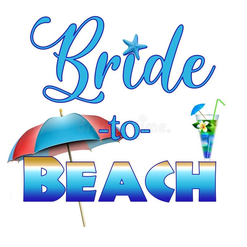 Bride to Beach graphic stock photos