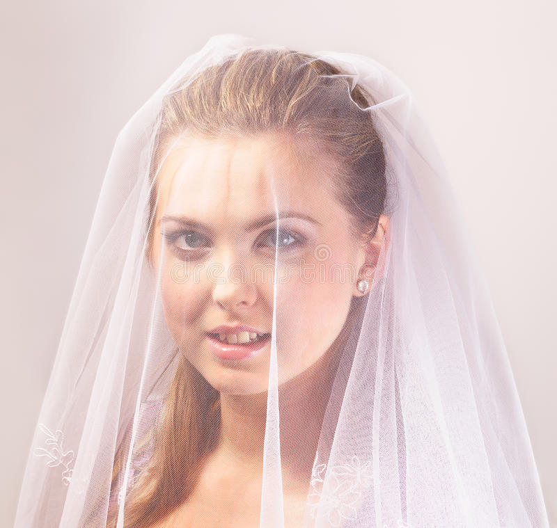 Bride With The Veil Stock Images