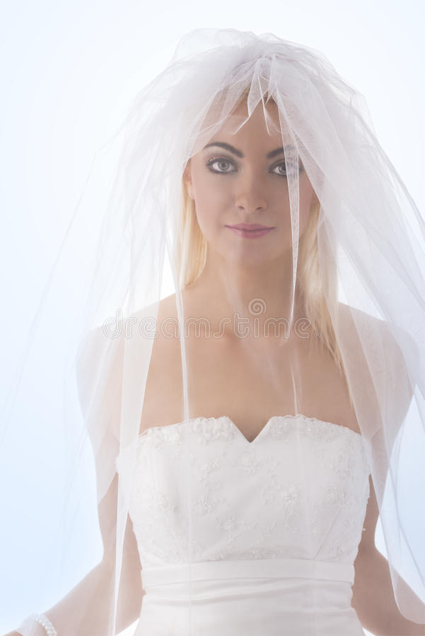 Download Bride With Veil On The Face In Front Of The Camera Stock Photo - Image: 28971664