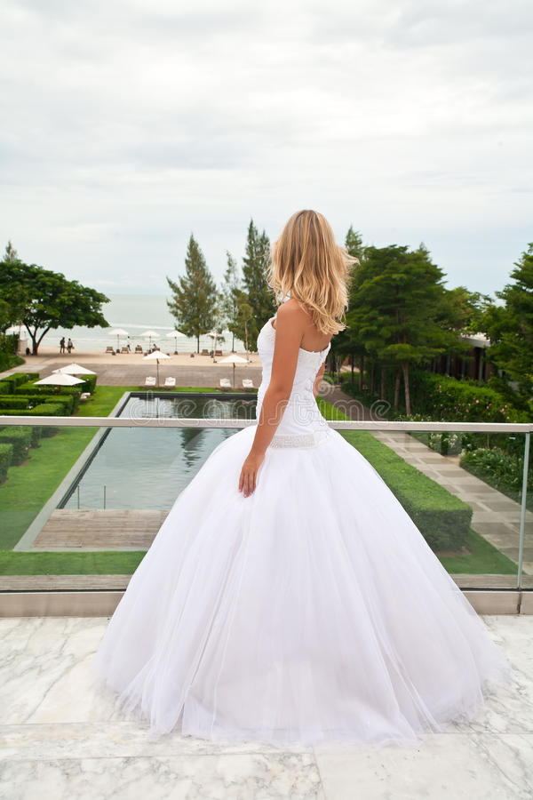 Download Bride waiting for groom. stock image. Image of blond - 16204759