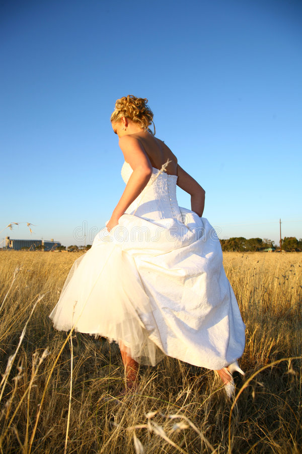 Bride Walking royalty free stock photography