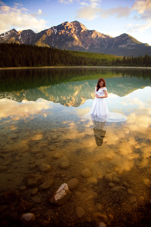 Bride in the Water stock photo