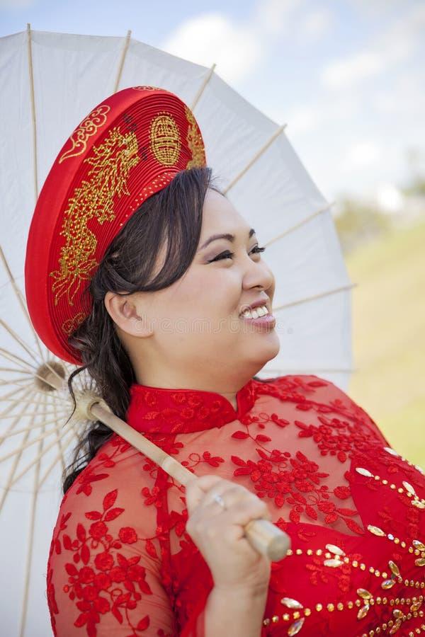 Bride Wearing Vietnamese Ao Dai Stock Photo - Image: 52066786