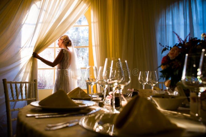 Bride preparation royalty free stock photo