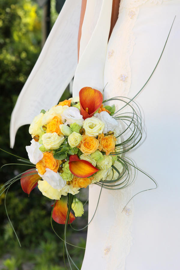 Download The Bride With A Wedding Bouquet. Stock Image - Image: 13810807