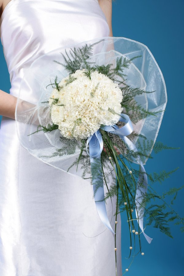 Download Bride and wedding bouquet stock photo. Image of romance - 6415072