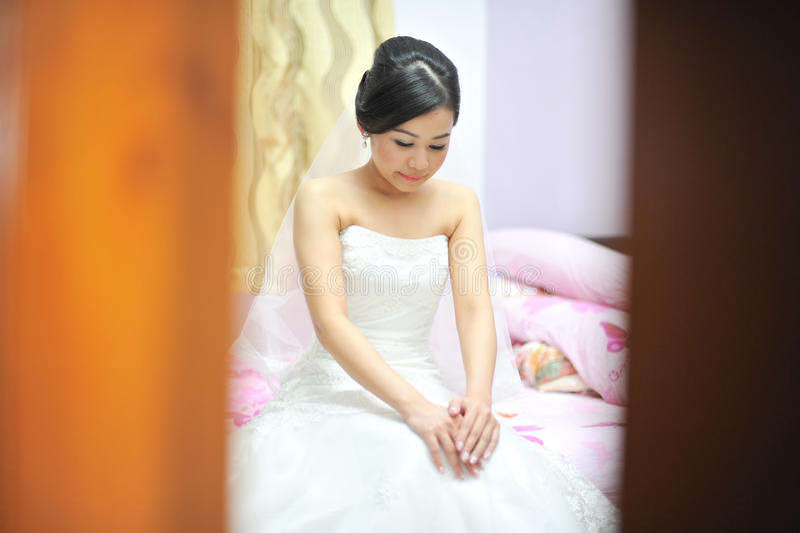 Bride in wedding day royalty free stock photos