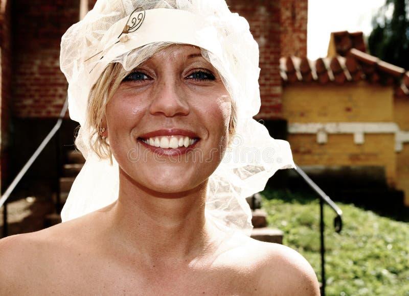 Bride on wedding day stock photos