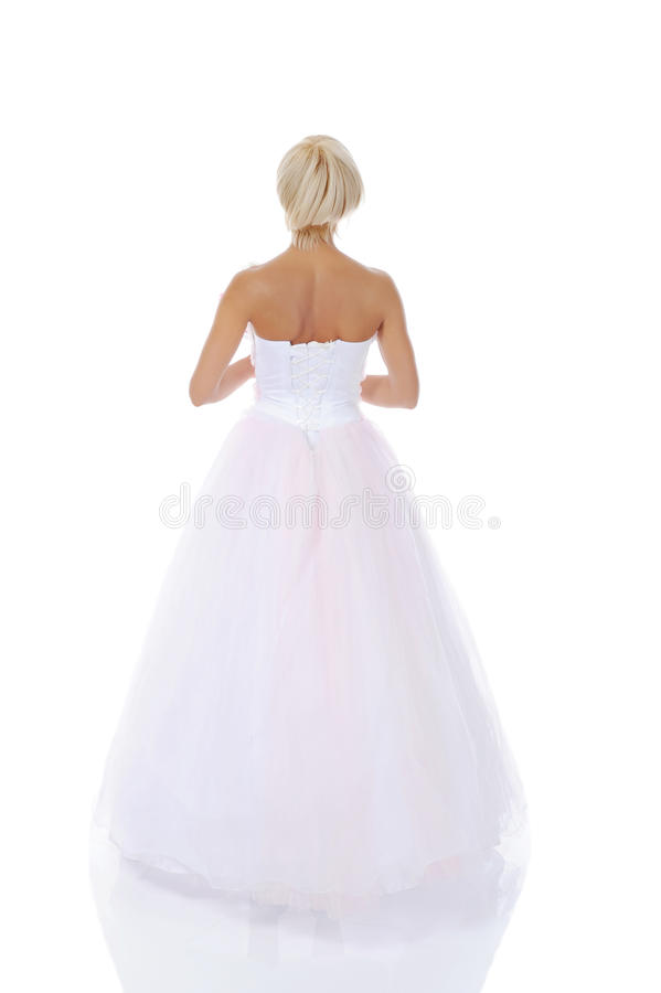 Download Bride in wedding dress stock image. Image of ornament - 15862763