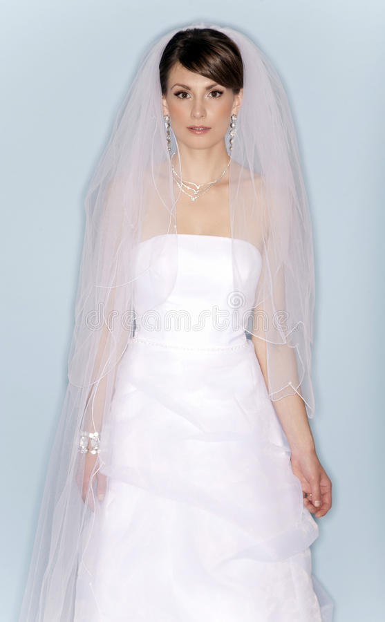 Download Bride in wedding dress stock photo. Image of necklace - 24426020