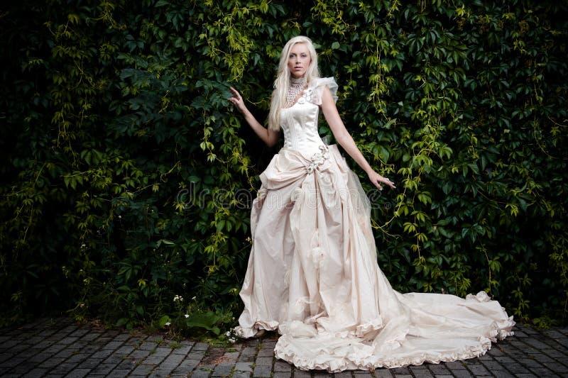 Bride in white stock image