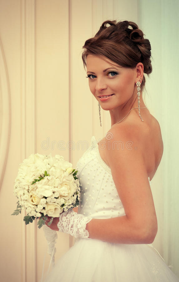 Download Bride with white roses stock image. Image of marriage - 28807679