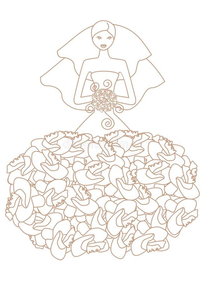 Bride3 ilustración del vector