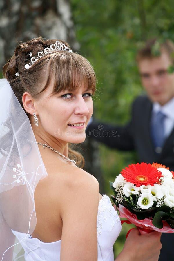 Bridegroom and Bride. royalty free stock photos