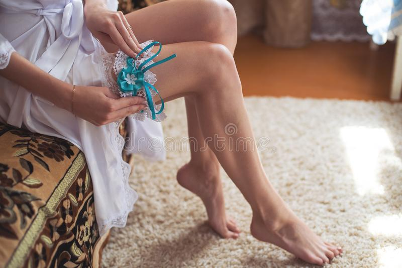 Brideputs op kouseband stock foto's