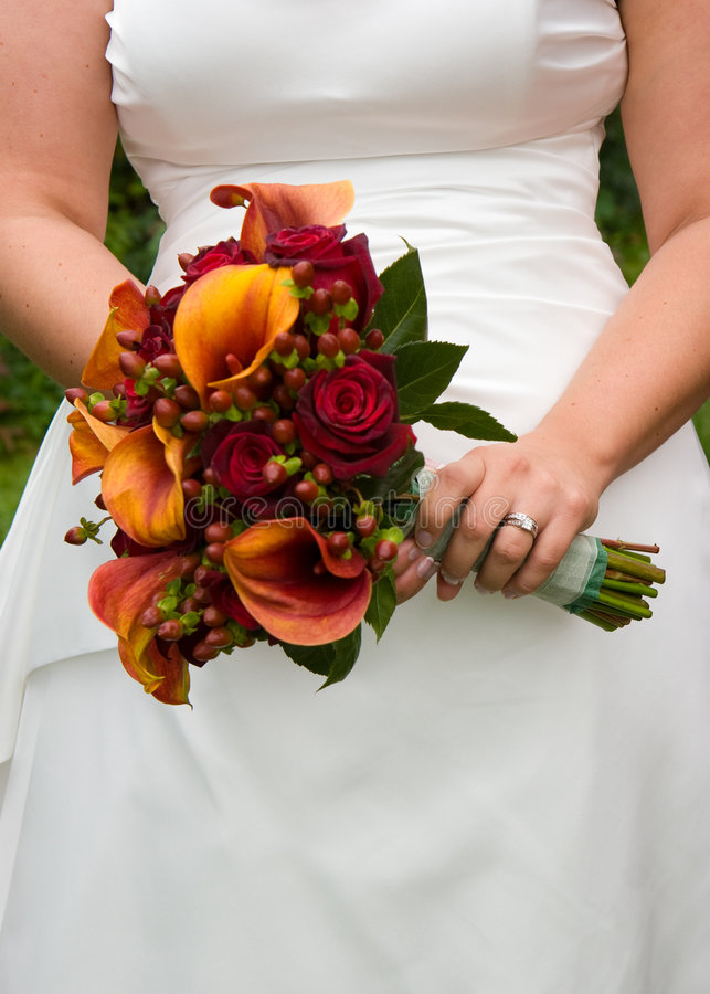 Download Brides Flowers stock image. Image of wedding, dress, hold - 4973591