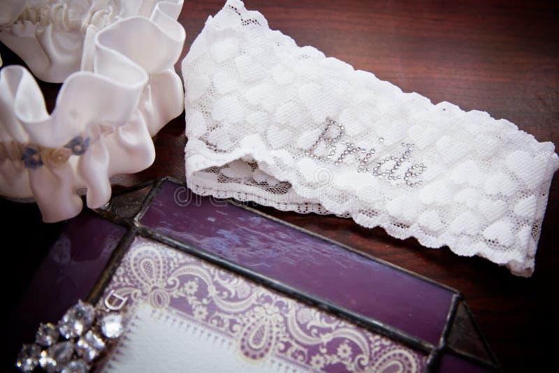 Brides garter royalty free stock image