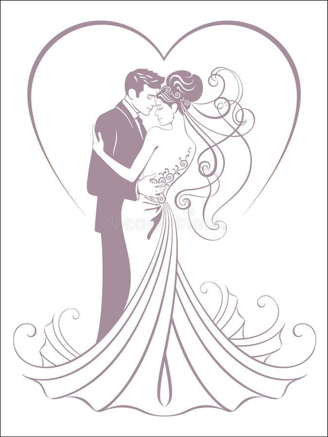 Brides stock illustration