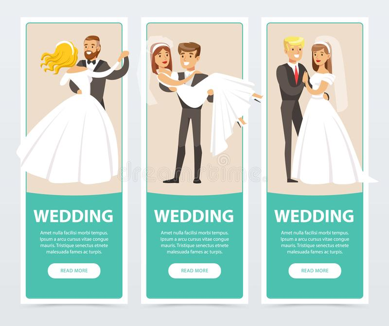 Brides And Grooms, Happy Just Married Couples, Wedding