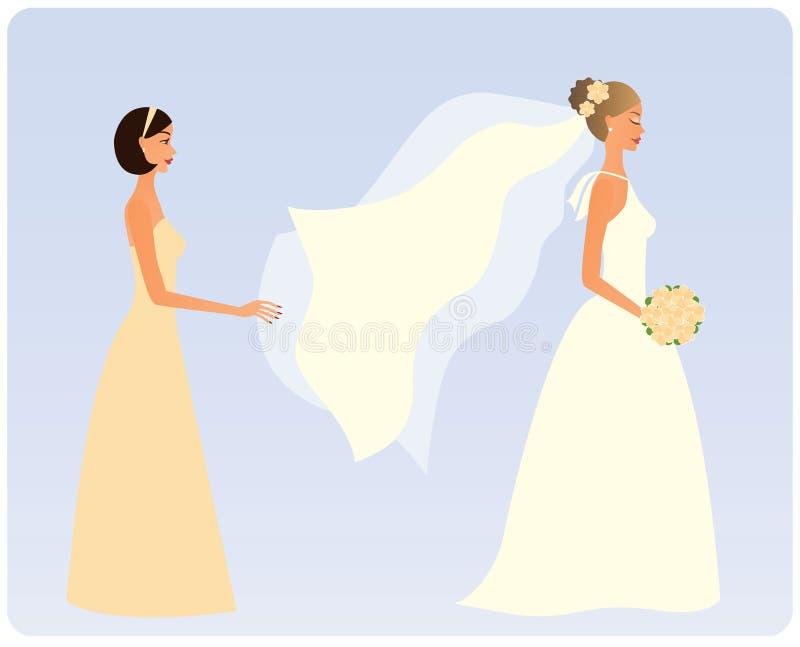 bridesmaid невесты бесплатная иллюстрация