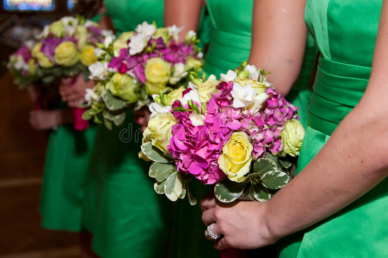 Bridesmaid flowers stock photo