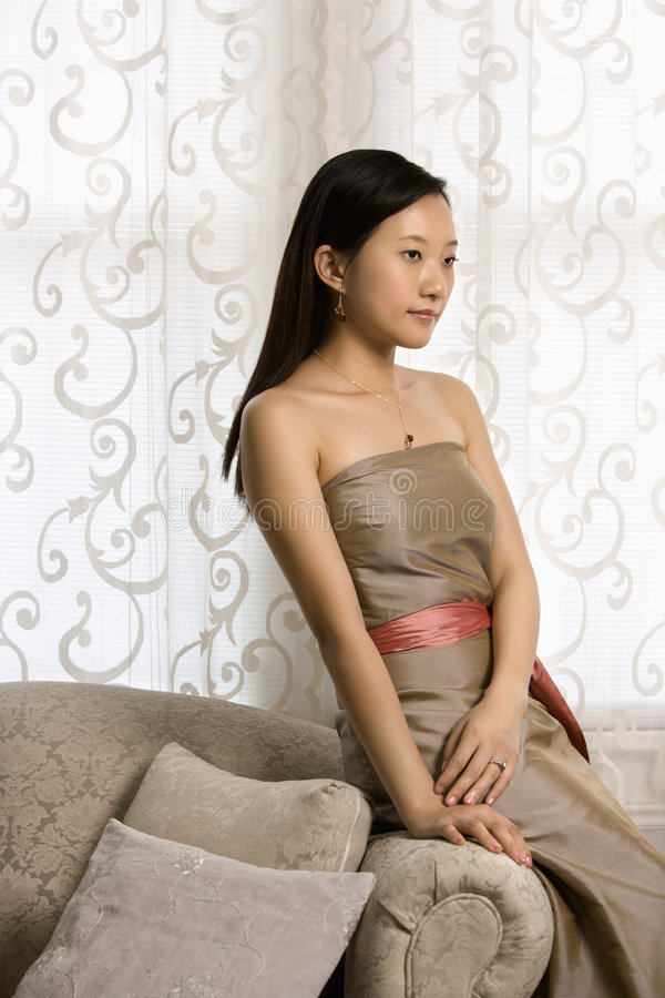 Bridesmaid portrait. stock images