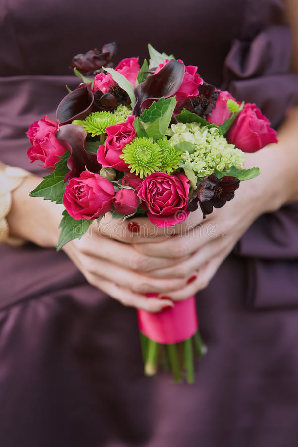 Bridesmaid Wedding Bouquet Royalty Free Stock Photography