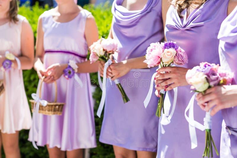 bridesmaids imagem de stock royalty free