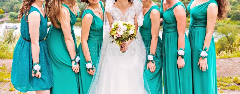 bridesmaids immagini stock libere da diritti