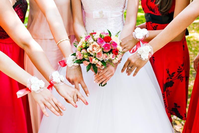 bridesmaids imagem de stock