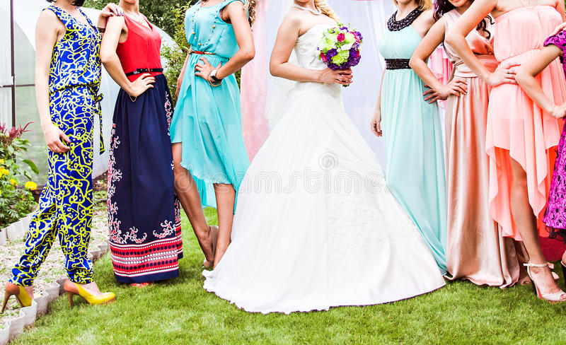 bridesmaids imagens de stock