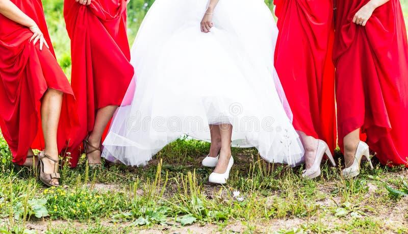 bridesmaids fotos de stock
