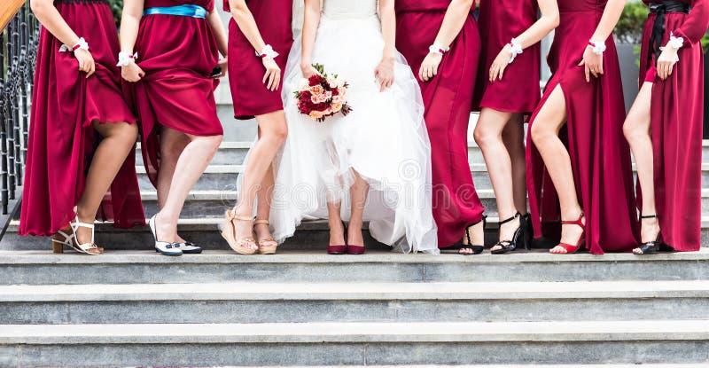 bridesmaids foto de stock