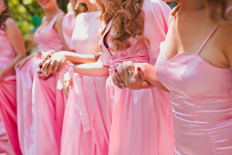 bridesmaids foto de archivo libre de regalías