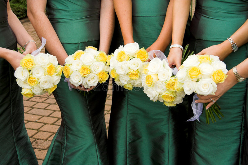 Bridesmaids Flowers stock image